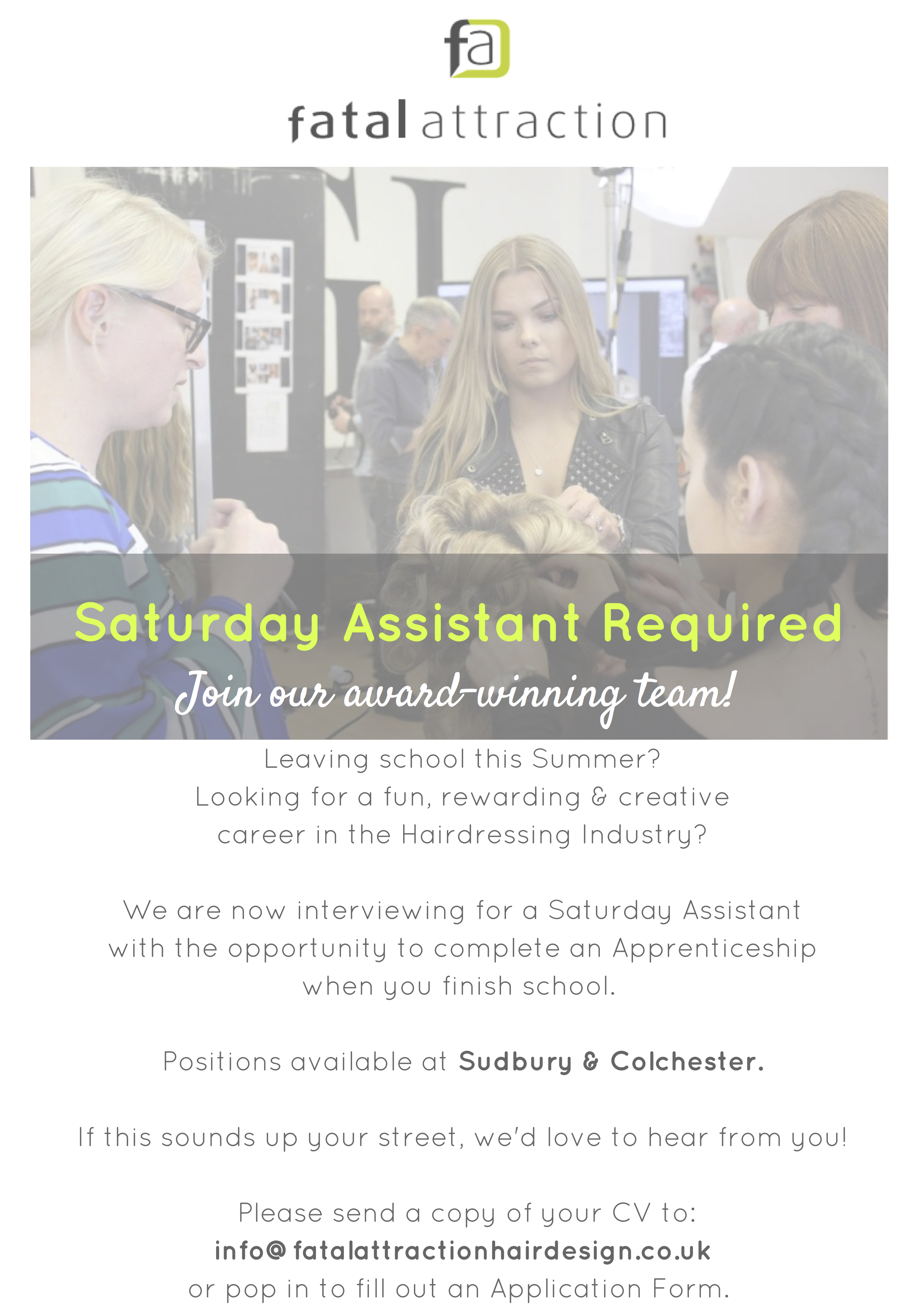 Saturday Assistant Required!